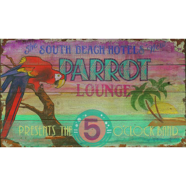 Personalized Parrot Cocktail Lounge Sign