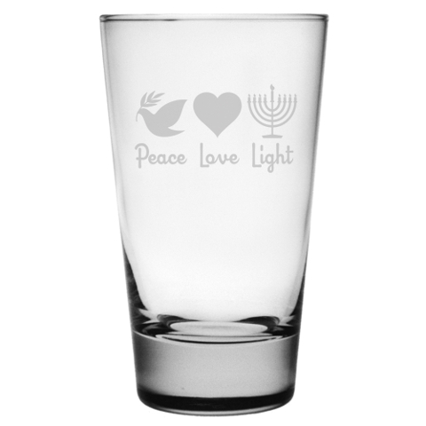 Peace Love Light Highball Glasses (set of 4)