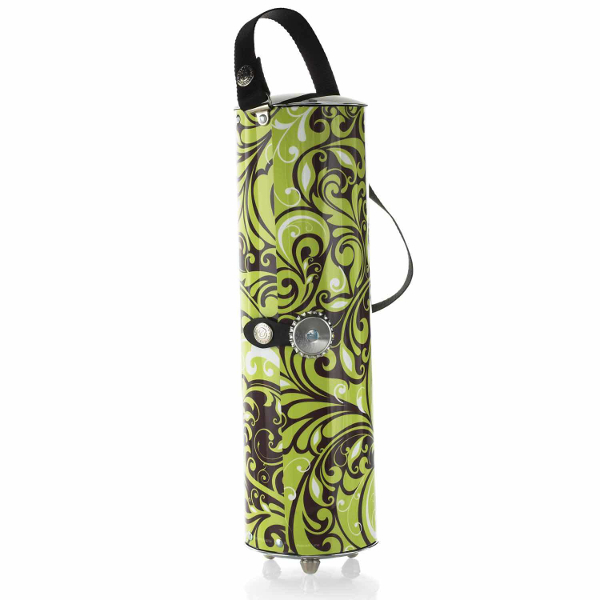 Wine Caddy Wine Bottle Travel Case (Peacock Lime)