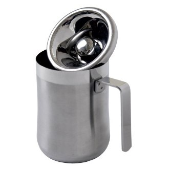 Personal Spittoon, Brushed Stainless Steel