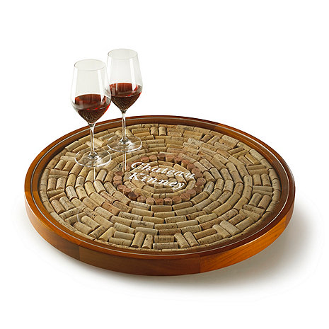 Personalized Wine Cork Decor Lazy Susan Kit