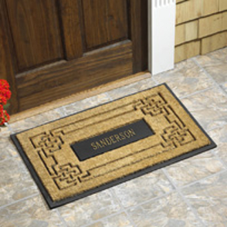 Personalized Coir Knot Welcome Mat