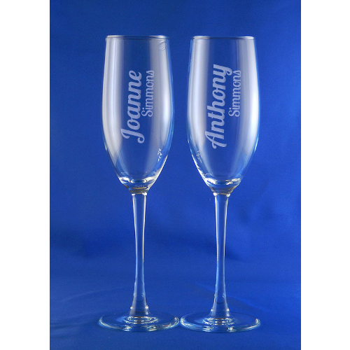 Personalized Connoisseur Toasting Flutes (set of 2)