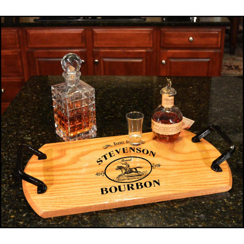 Customized Derby Bourbon Bistro Tray