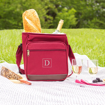 Personalized Wine Bottles Cooler Picnic Bag