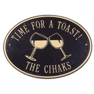 Time for A Toast Wine Personalized Wall Plaque