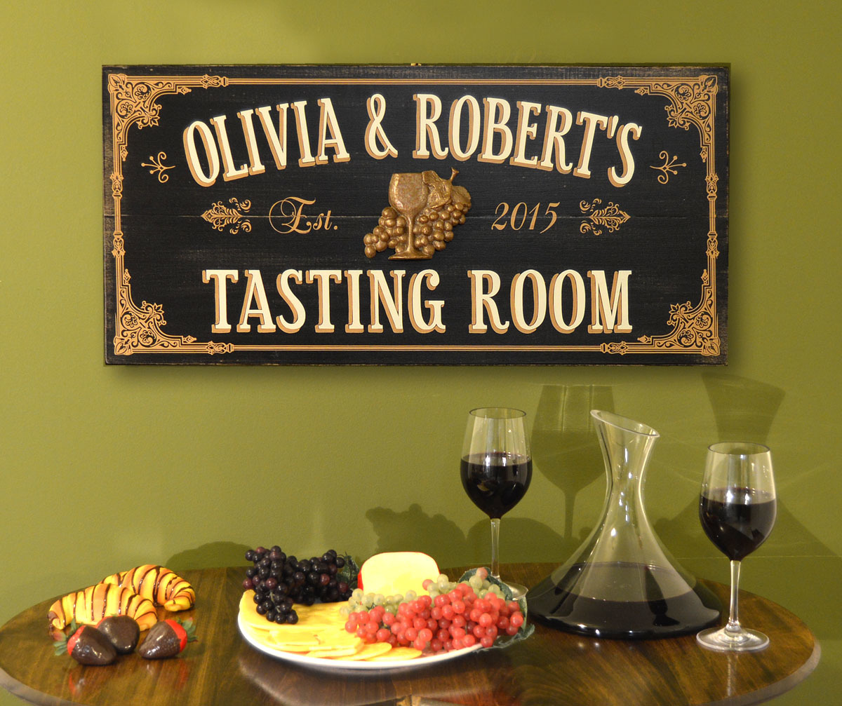 Tasting Room Personalized Bar Sign