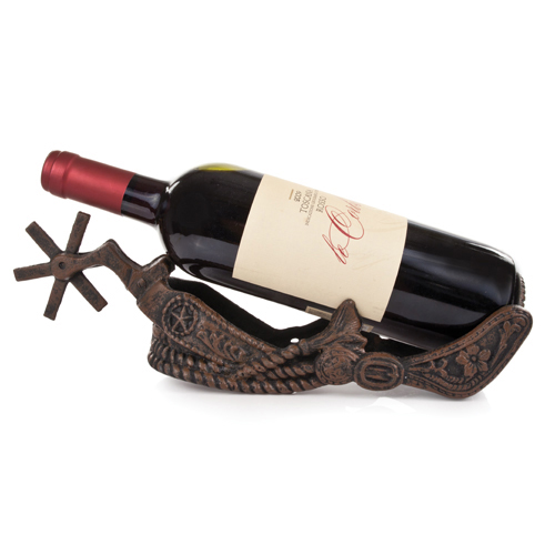 Cowboy Boot Spur Wine Bottle Holder