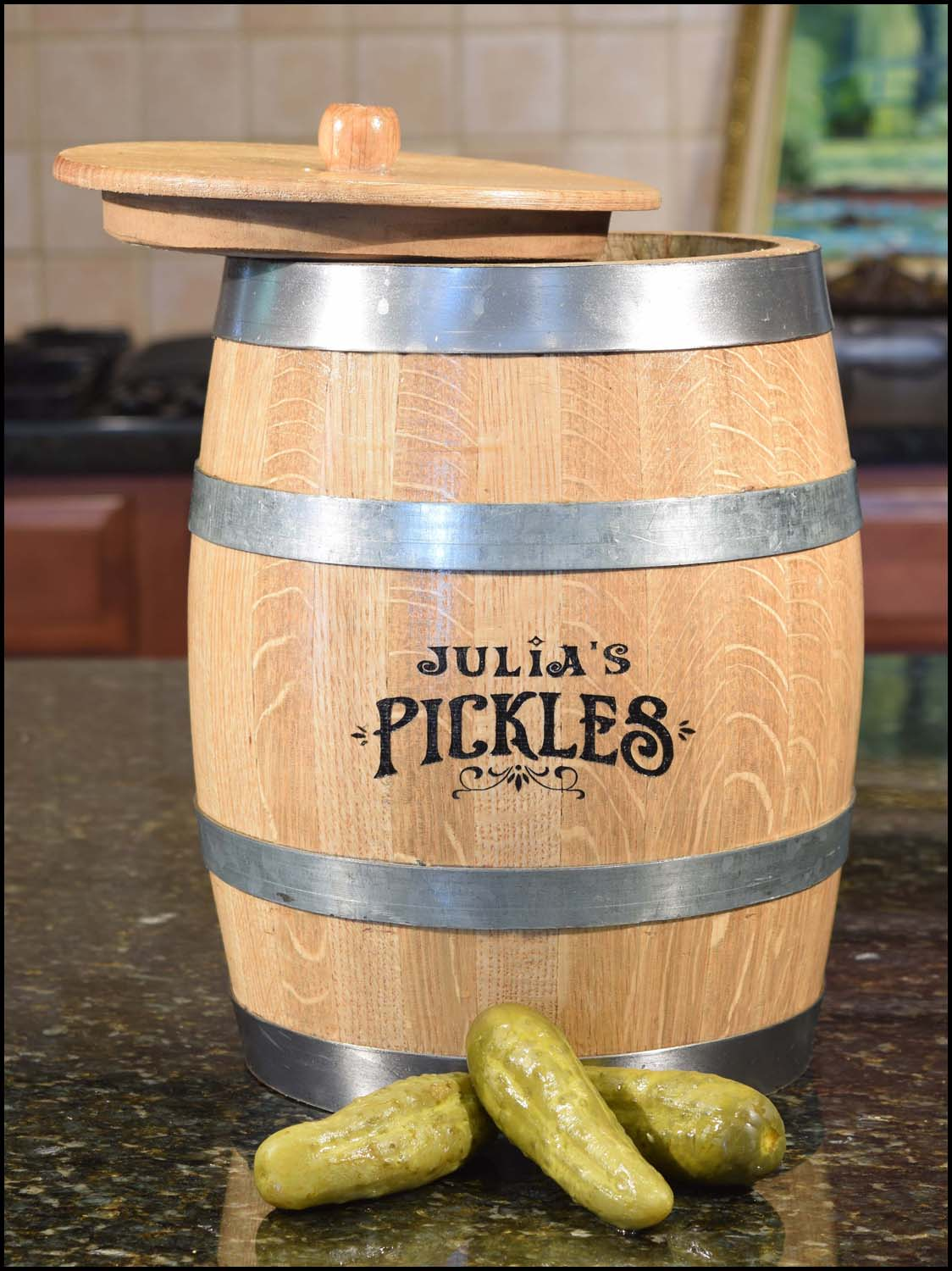The Amazing Pickle Barrel Pickling Kit