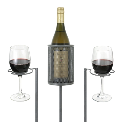 Picnic Wine Stake Set