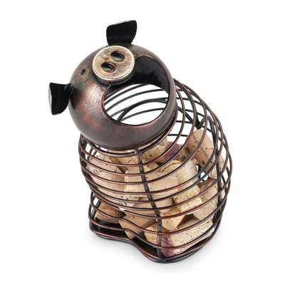 Oink Pig Metal Cork Holder
