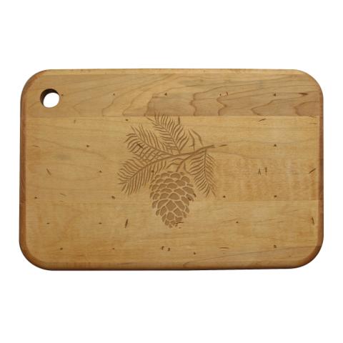 Pine Cone Artisan Wood Board