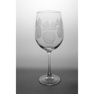 Pineapple AP Wine Glasses  (set of 4)
