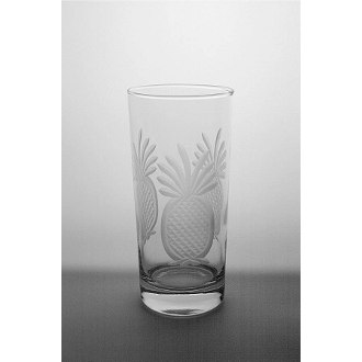 Etched Pineapple Cooler Glasses (set of 4)