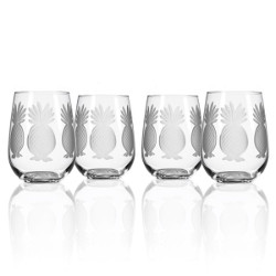 Pineapple Red Wine Tumblers (set of 4)