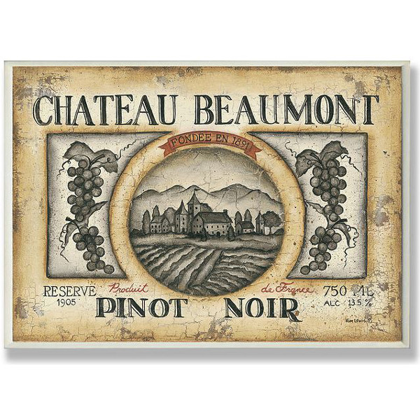 Chateau Beaumont Pinot Noir Wall Art