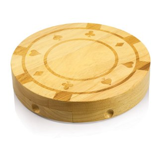 Poker Chip Cutting Board Gift Set