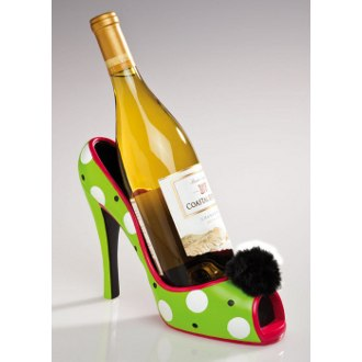 High Heel Wine Bottle Holder Polka Dot