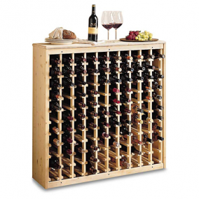 Wooden Wine Tasting Rack 110 Bottle