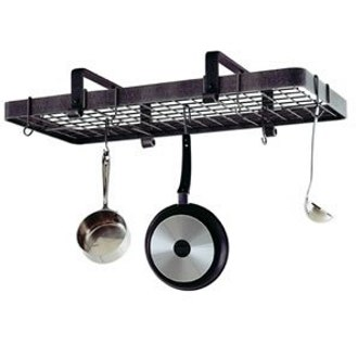 Low Ceiling Rectangle Pot Rack with Grid