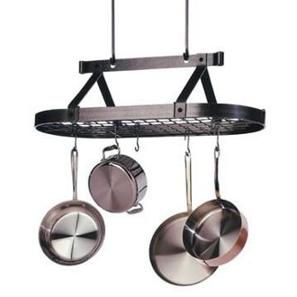 3 Foot Oval Pot Rack with Grid