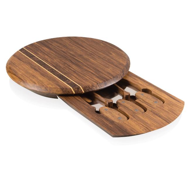 Pressato Crush Bamboo Cheese Board Set