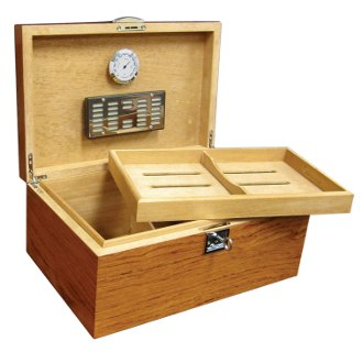 The Princeton Bubinga Cigar Humidor
