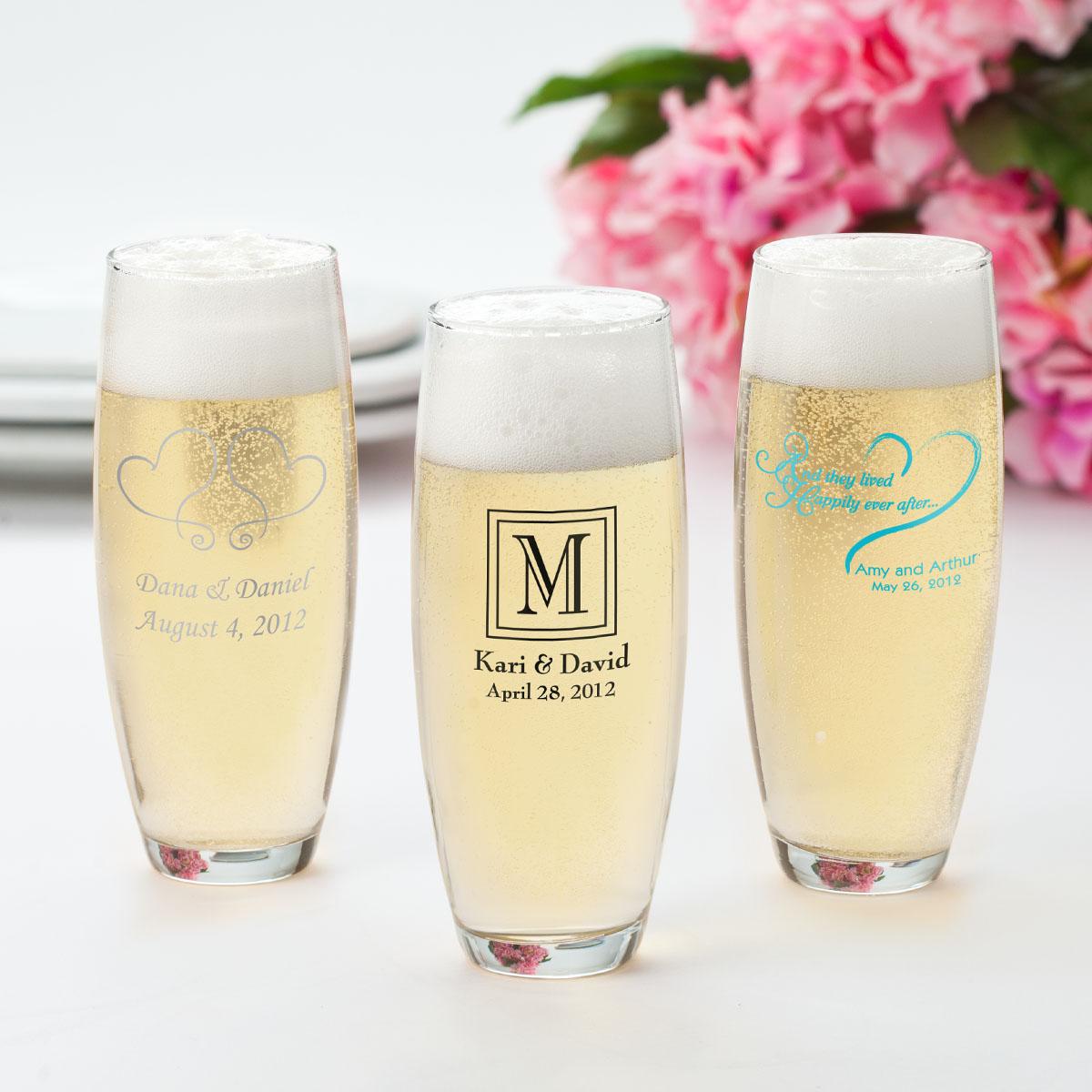 Custom Stemless Champagne Flutes