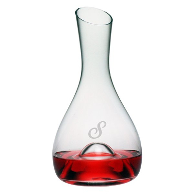 Personalized Scripted Initial Punted Carafe