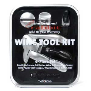 Silver Rabbit Corkscrew Wine Tool Kit