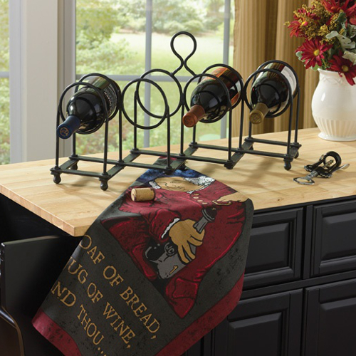 Raleigh Forged Wine Bottle Rack