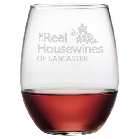 Real Housewines Personalized Stemless Wine Glasses (set of 4)