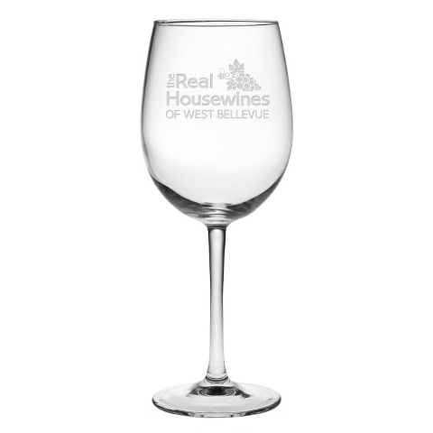 Real Housewives Personalized Stemmed Wine Glasses (set of 4)