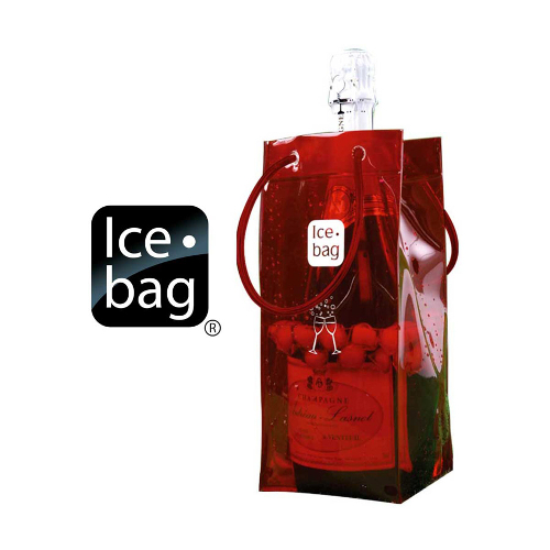 Ice Bag Collapsible Wine Cooler Bag, Red