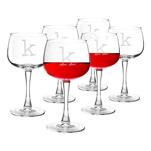 Personalized Stemmed Red Wine Glasses (set of 4)
