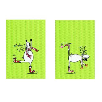 Reindeer Holiday Towels (set of 2)