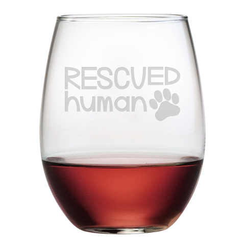 Rescued Human Stemless Wine Glasses (set of 4)