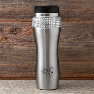 Personalized Rhinestone Travel Tumbler