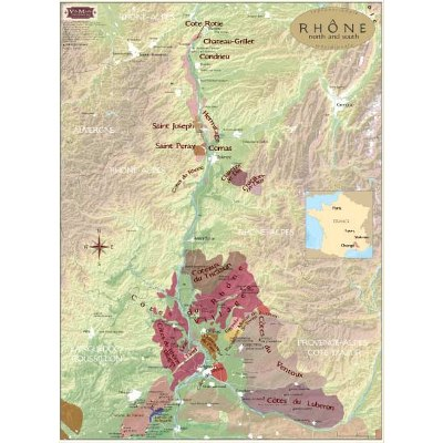 Rhone Wine Regions Map