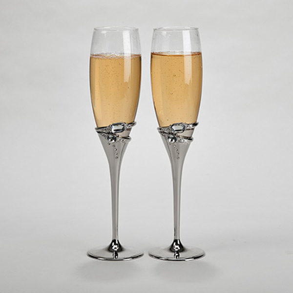 Rings Champagne Flutes (set of 2)
