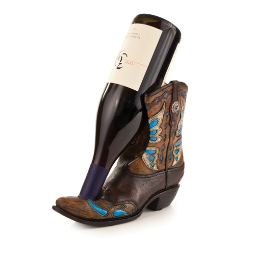 Cowgirl Boot Wine Bottle Holder
