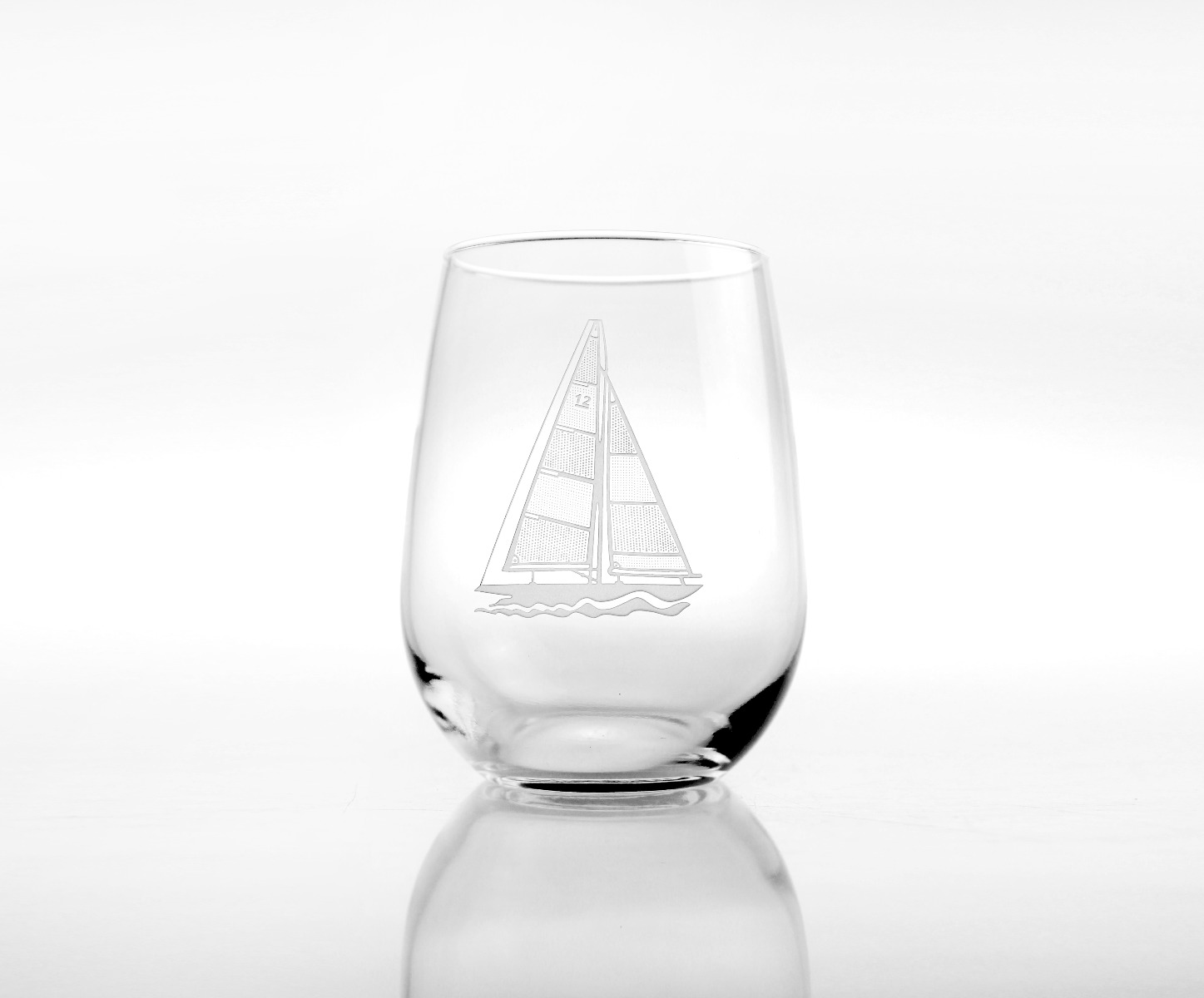 Sailboat White Wine Tumblers 17 oz (set of 4)