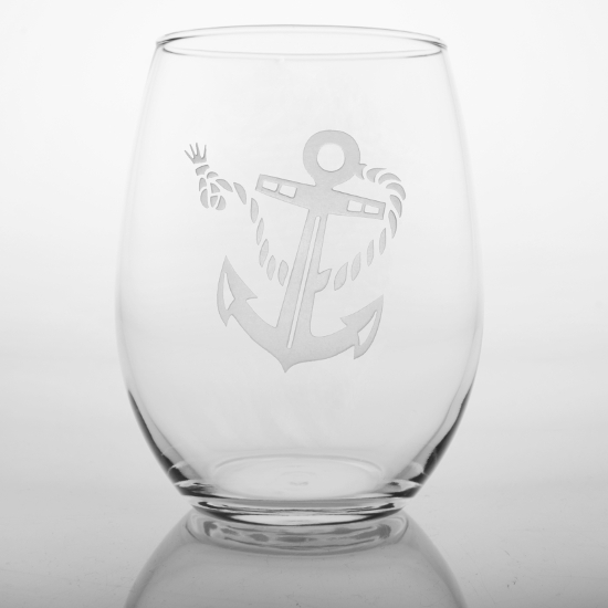 Rope with Anchor Red Wine Tumblers (set of 4)