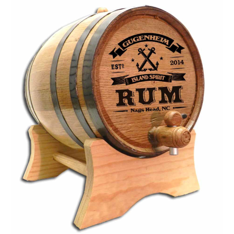 Anchor Rum Make Your Own Spirits Personalized Oak Barrel
