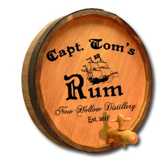 Captain's Rum Quarter Barrel Sign