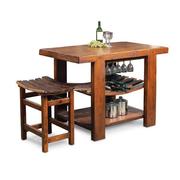Russian River Rustic Kitchen Island