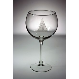 Sailboat Large Balloon Wine Glasses (set of 4)