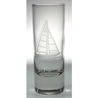 Sailboat Cordial Glasses, 4 Shot Glasses