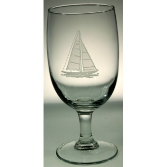 Sailboat Footed Iced Tea Glasses (set of 4)