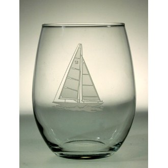 Sailboat Red Wine Tumblers (set of 4)